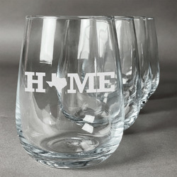 Home State Stemless Wine Glasses (Set of 4) (Personalized)