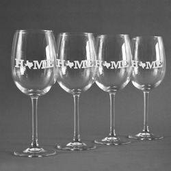 Home State Wine Glasses (Set of 4) (Personalized)
