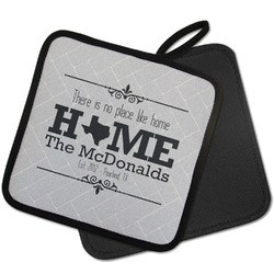 Home State Pot Holder w/ Name or Text