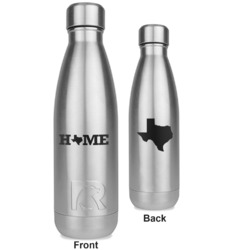 Home State RTIC Bottle - Silver - Engraved Front & Back (Personalized)