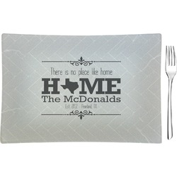 Home State Glass Rectangular Appetizer / Dessert Plate (Personalized)