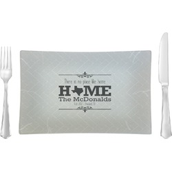 Home State Rectangular Glass Lunch / Dinner Plate - Single or Set (Personalized)