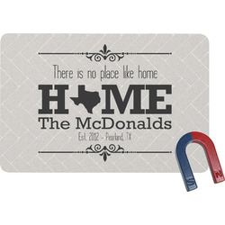 Home State Rectangular Fridge Magnet (Personalized)