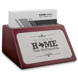 Home State Red Mahogany Business Card Holder (Personalized)