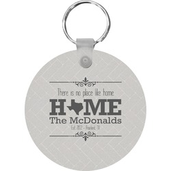 Home State Round Keychain (Personalized)