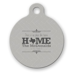 Home State Round Pet Tag (Personalized)