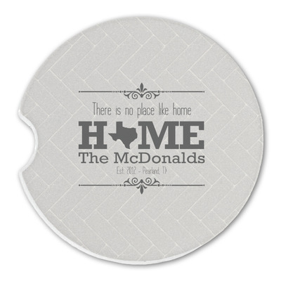Home State Sandstone Car Coasters (Personalized)