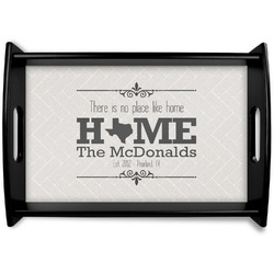 Home State Black Wooden Tray (Personalized)