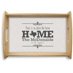 Home State Natural Wooden Tray - Small (Personalized)