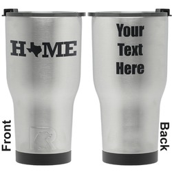 Home State RTIC Tumbler - Silver - Engraved Front & Back (Personalized)