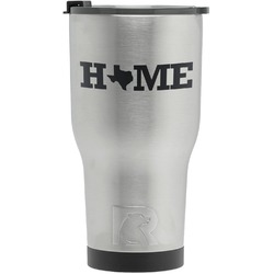 Home State RTIC Tumbler - Silver - Engraved Front (Personalized)