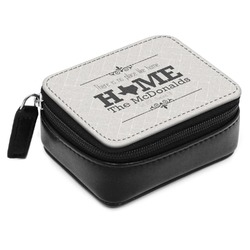 Home State Small Leatherette Travel Pill Case (Personalized)