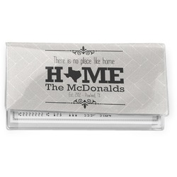 Home State Vinyl Checkbook Cover (Personalized)