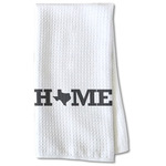Home State Waffle Weave Kitchen Towel - Partial Print (Personalized)