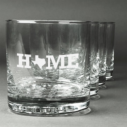 Home State Whiskey Glasses (Set of 4) (Personalized)