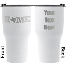 Home State RTIC Tumbler - White - Engraved Front & Back (Personalized)