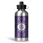 Lotus Flower Water Bottle - Aluminum - 20 oz (Personalized)