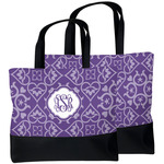 Lotus Flower Beach Tote Bag (Personalized)