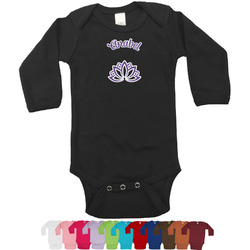 Lotus Flower Bodysuit - Long Sleeves - 0-3 months (Personalized)