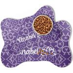 Lotus Flower Bone Shaped Dog Food Mat (Personalized)