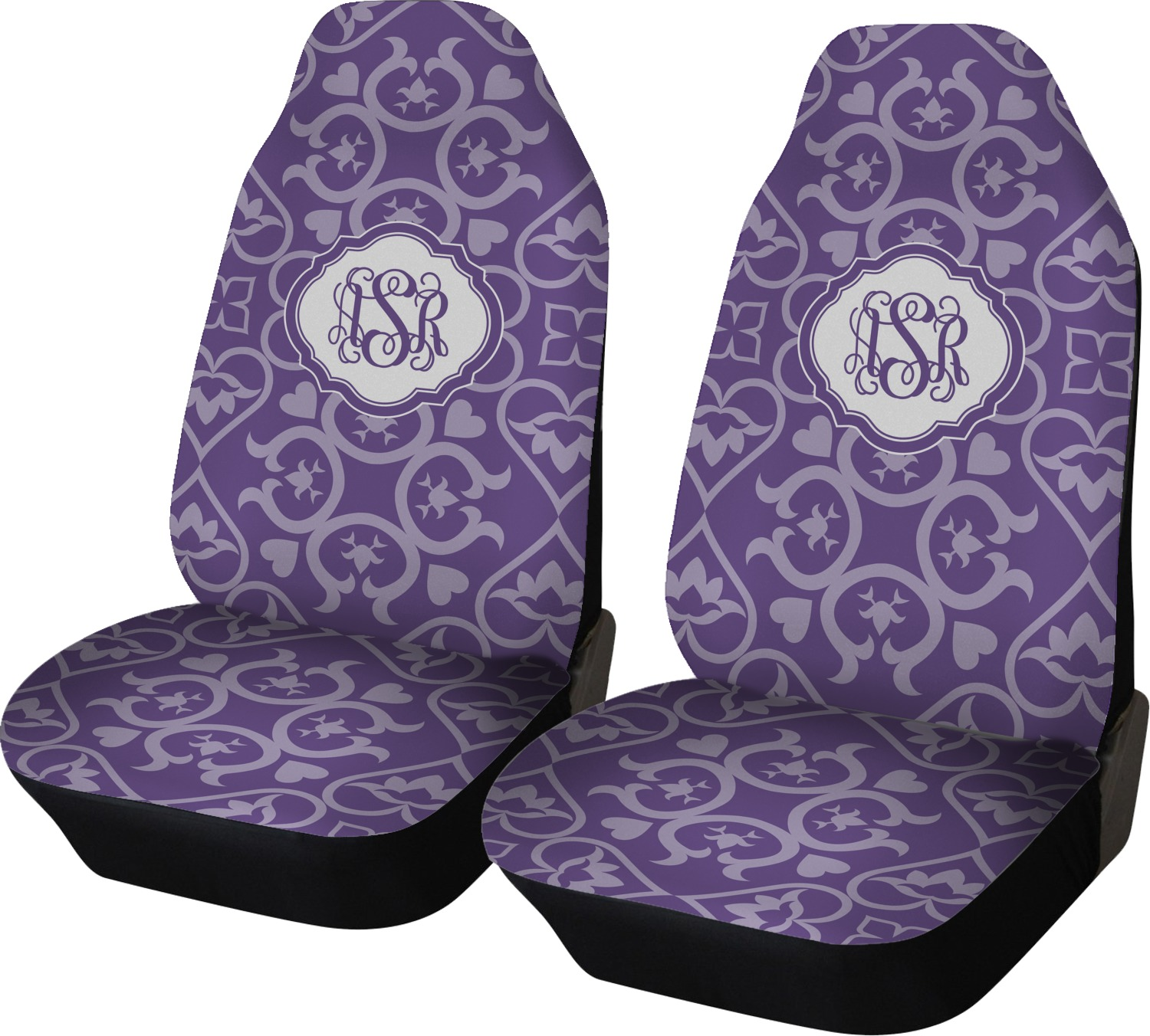 Lotus Flower Car Seat Covers Set Of Two Personalized