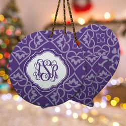 Lotus Flower Ceramic Ornament w/ Monogram