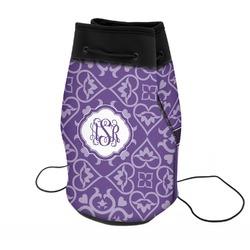 Lotus Flower Neoprene Drawstring Backpack (Personalized)