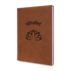 Lotus Flower Leatherette Journal (Personalized)