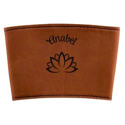 Lotus Flower Leatherette Mug Sleeve (Personalized)
