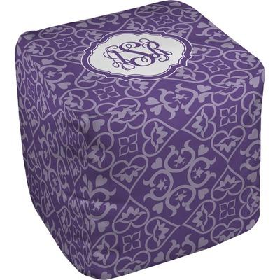 Lotus Flower Cube Pouf Ottoman (Personalized)