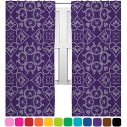 Lotus Flower Curtains (2 Panels Per Set) (Personalized)