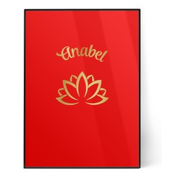 Lotus Flower 5x7 Red Foil Print (Personalized)