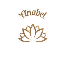 Lotus Flower Glitter Iron On Transfer- Custom Sized (Personalized)