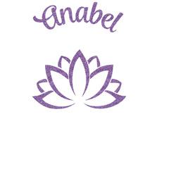 Lotus Flower Glitter Sticker Decal - Custom Sized (Personalized)