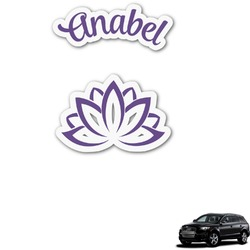 Lotus Flower Graphic Car Decal (Personalized)