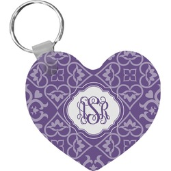 Lotus Flower Heart Keychain (Personalized)