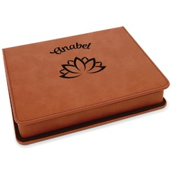 Lotus Flower Leatherette 4-Piece Wine Tool Set (Personalized)