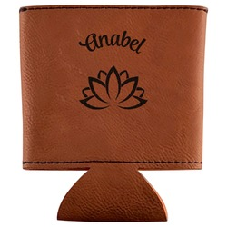 Lotus Flower Leatherette Can Sleeve (Personalized)
