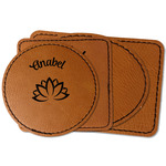 Lotus Flower Faux Leather Iron On Patch (Personalized)