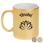 Lotus Flower Metallic Mug (Personalized)