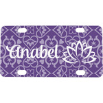Lotus Flower Mini / Bicycle License Plate (Personalized)
