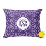 Lotus Flower Outdoor Throw Pillow (Rectangular) (Personalized)