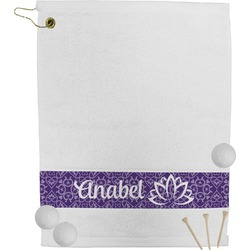 Lotus Flower Golf Towel (Personalized)