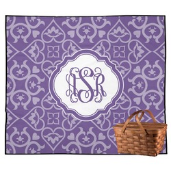 Lotus Flower Outdoor Picnic Blanket (Personalized)