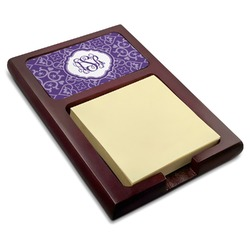 Lotus Flower Red Mahogany Sticky Note Holder (Personalized)