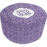 Lotus Flower Round Pouf Ottoman (Personalized)