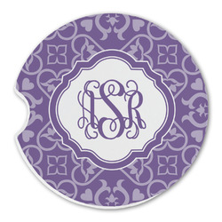 Lotus Flower Sandstone Car Coasters (Personalized)