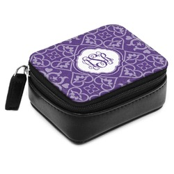 Lotus Flower Small Leatherette Travel Pill Case (Personalized)