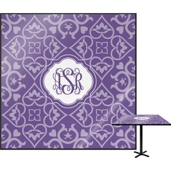 Lotus Flower Square Table Top (Personalized)