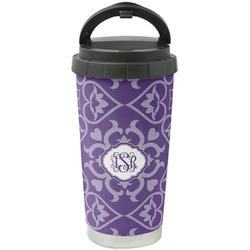 Lotus Flower Stainless Steel Travel Mug (Personalized)